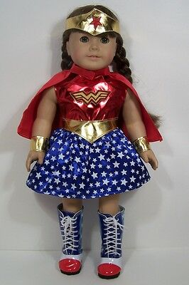 Wonder Woman Super Hero Costume Clothes For 18