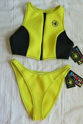 NWT Body Glove Swimsuit Bikini L Better then Neoprene SMUSH High Neck Tank Zip