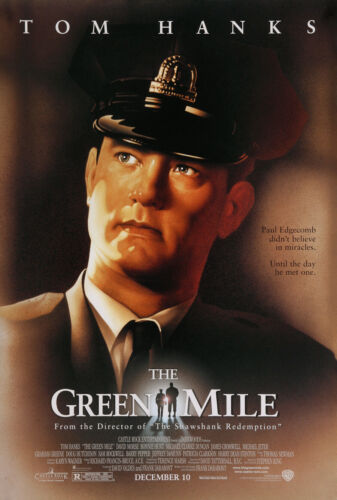THE GREEN MILE MOVIE POSTER 2 Sided ORIGINAL FINAL 27x40 TOM HANKS STEPHEN KING