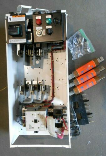 SIEMENS model 95 fused size 4 mcc bucket motor control center used no door