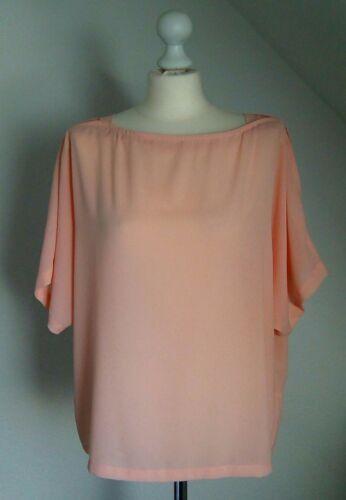 🌼Süsse Vero Moda Bluse🌼Damen Tunika Tshirt lachs rosa Trend 2019 Ärmel Gr XL