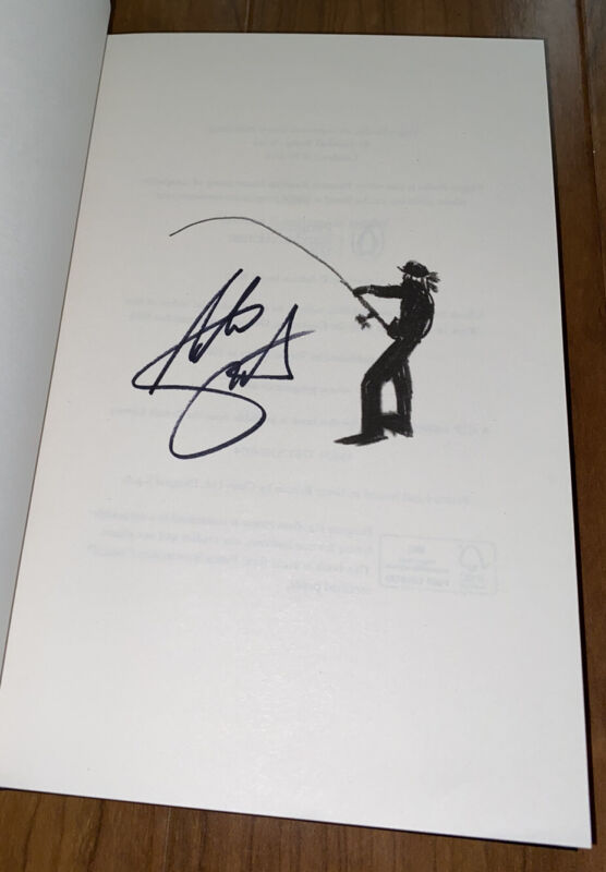 Adrian Smith Signed Book Monsters Of River & Rock Iron Maiden