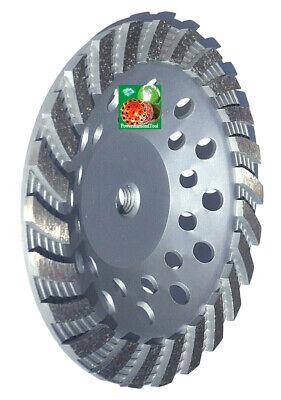 "7/"" POWER DIAMOND CUP WHEEL DOUBLE ROW 28 SEG GRINDING HARD CONCRETE STONE-3Pcs"