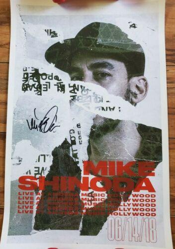 "Mike Shinoda Poster Autographed Signed Lincoln Park Amoeba Live 14"" x 22"""