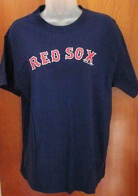 BOSTON RED SOX classic logo T shirt 2007 med tee MLB plain Soft As Grape retro 2007 Classic Logo T-shirt