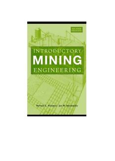 Wanted: Introductory Mining Engineering  2nd edition
