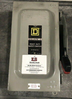 Square D Safety Switch Disconnect Hu362awh 60 Amp 600 Volt Non Fusible Nema 1