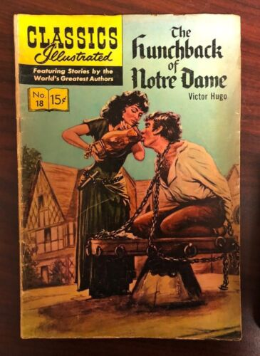 CLASSICS ILLUSTRATED #18 The Hunchback of Notre Dame (HRN 146) VG+