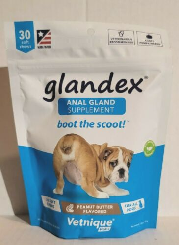 Glandex Peanut Butter Soft Chews for Dogs (30 count)