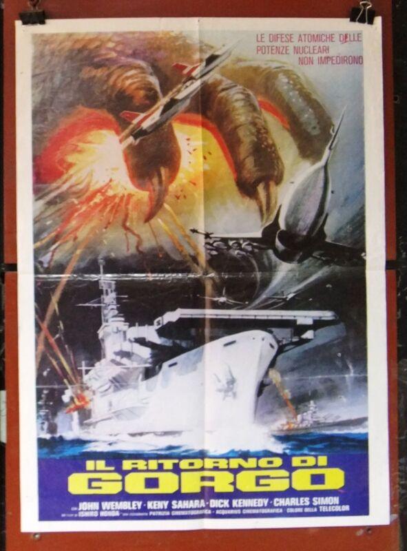 """Il Ritorno Di Gorgo (Ishiro Honda) 20x27"""" Original Lebanese Movie Poster 70s"""