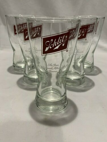 Vintage Schlitz Brewing Company Beer Glasses The Beer that made Milwaukee Famous