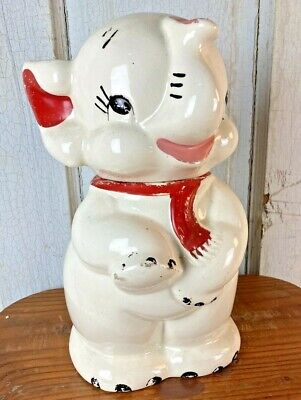 USA LUCKY THE ELEPHANT VINTAGE COOKIE JAR