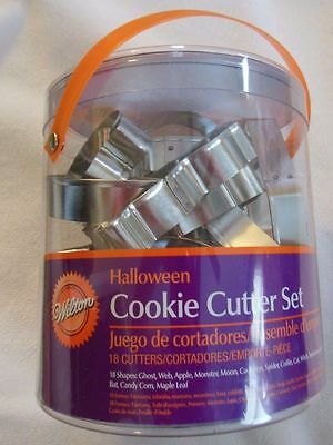 *Discontinued* Wilton Halloween Cookie Cutters Set  includes 18 cookie cutters](Wilton Halloween Cookie Cutters 18)