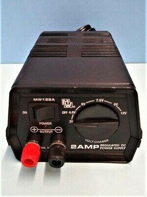 Mw122a Multi-voltage 2 Amp Regulated Dc Power Supply 3v-12v