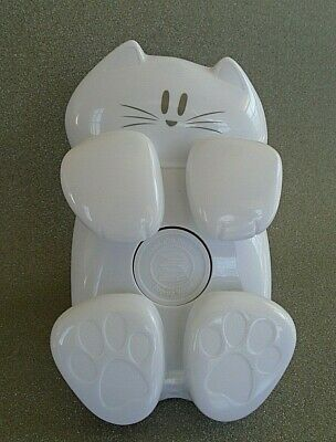 Post-it White Kitty Cat Shaped Pop-up Note Dispenser Paper Weight 3x3 Note Size