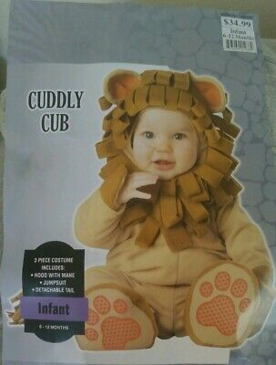 Halloween Infant Lion Cub Costume 6-12 months - Lion Halloween Costumes