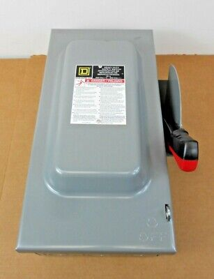 New Square D Hu362 Safety Switch Non-fusible 60a 60 Amp 3p 600v Nema 1 3 Avail
