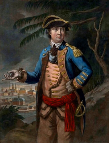 US Traitor BENEDICT ARNOLD Glossy 8x10 Photo Painting Poster American Revolution