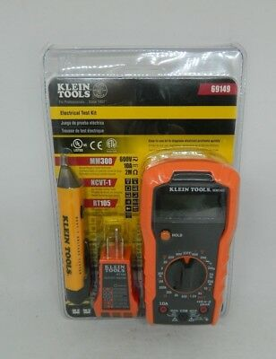 Klein Tools 69149 Electrical Test Kit Receptacle And Voltage Tester Multi Meter
