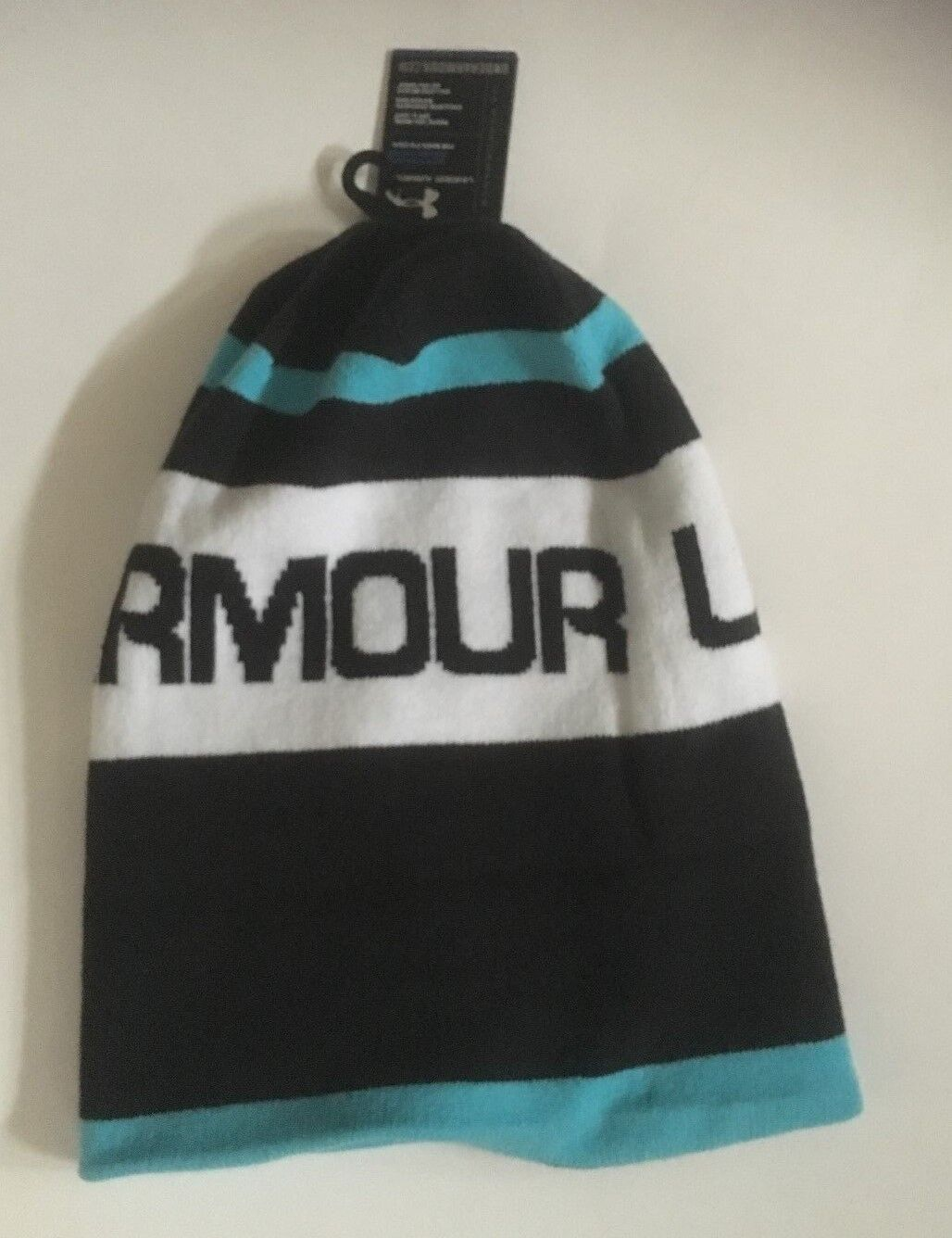 Under Armour Cold Gear Beanie, Blackwhiteturquoise 1221044