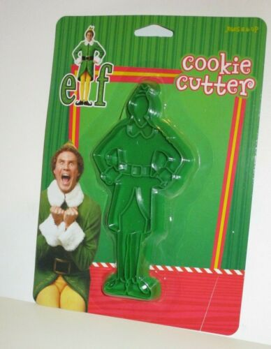 WILL FERRELL BUDDY THE ELF CLASSIC CHRISTMAS HOLIDAY MOVIE PLASTIC COOKIE CUTTER