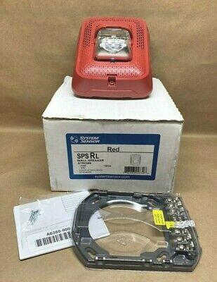 System Sensor Spsrl Wall Speaker Strobe Indoor Fire 9062 Red New