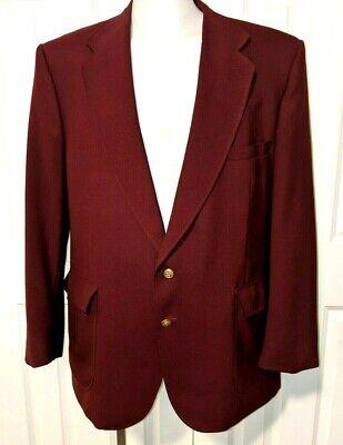 Vtg Stafford Jacket Sport Coat Jacket Ron Burgundy costume Halloween 46R