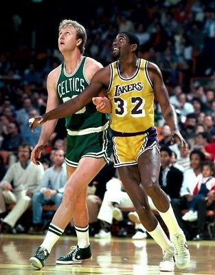 Magic Johnson Larry Bird Lakers Celtics 8.5 X 11 in. Poster Photo Print