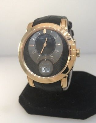 HARRY WINSTON MIDNIGHT BIG DATE 18K ROSE GOLD AUTOMATIC MEN'S WATCH NEW WITH BOX