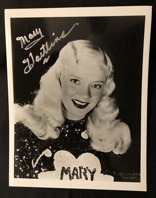 SUPER CIRCUS-MARY HARTLINE, ABC TV, Fred Countiss,ChicagoPersonalized Autograph