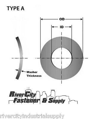 M10 Or 10mm Metric A2 18-8 Stainless Steel Wave Curved Washers 100pc Din137a