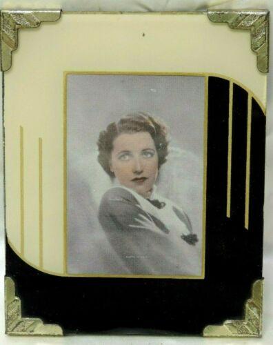 VINTAGE ART DECO REVERSE PAINT GLASS PICTURE FRAME 1930