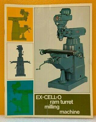 Ex-cell-o Ram Turret Milling Machine Catalog.