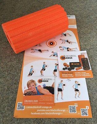 Blackroll Orange 30 cm Groove Ultra Massagerolle Übungs DVD Übungs- Poster