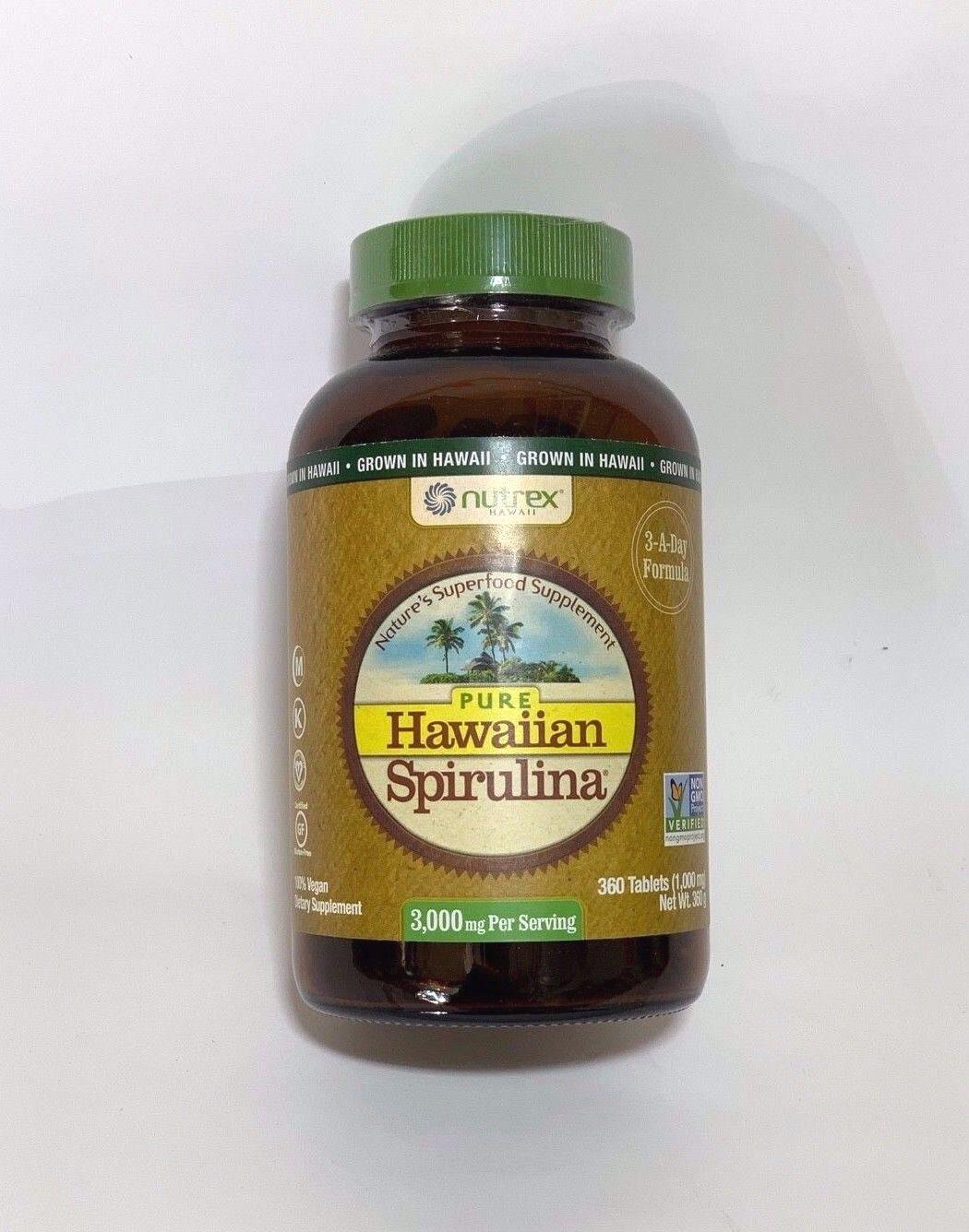 Nutrex Hawaii Pure Hawaiian Spirulina 1000 Milligrams, 180 T