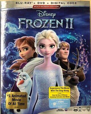 DISNEY FROZEN 2 II (Blu-ray + DVD + Digital Code) Brand New Sealed W/Slipcover