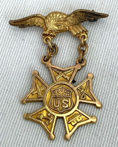 1950 Named & Engraved Army Navy Union Officers Medal