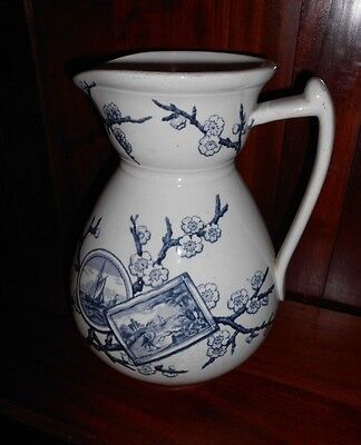 ANTIQUE VICTORIAN AESTHETIC MOVEMENT JUG c1875 BY JOHN MEIR & SON TUNSTALL