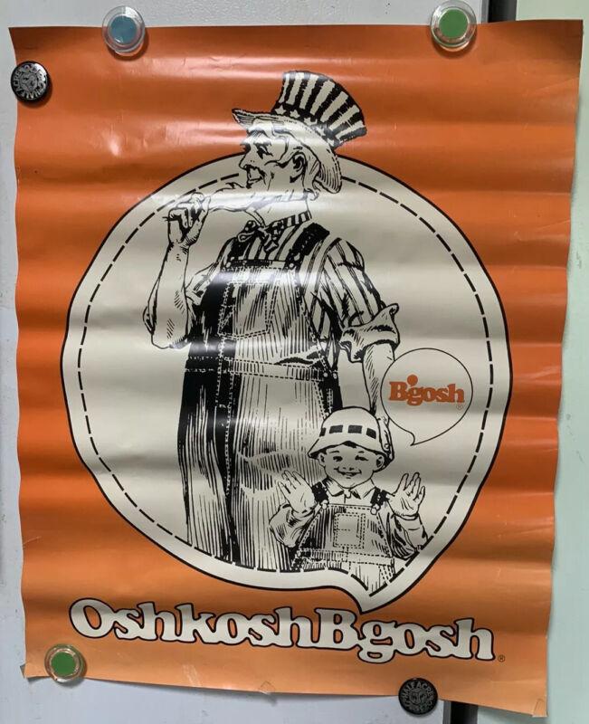 Oshkosh B'Gosh Jeans Vintage Poster Advertising Display RARE Collectible