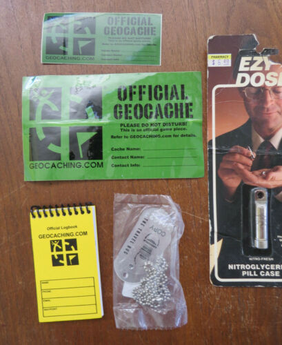 Official Geocaching Lot Travel Bugs Stickers microcache container notebook