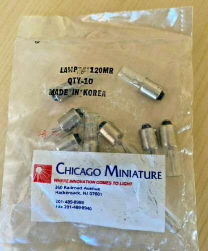 NEW Chicago Miniature Lamp # 120MR bag of qty.10 each