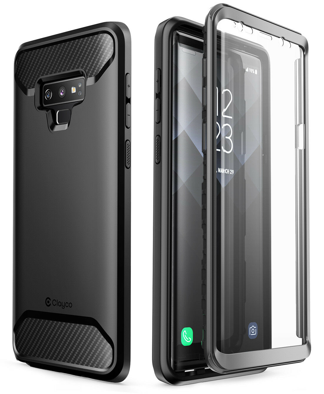 For Galaxy Note 9 Clayco Xenon Series Case Cover with 3D Cur