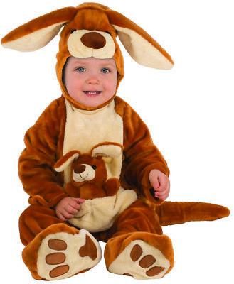 kangaroo infants unisex brown zoo animal halloween costume