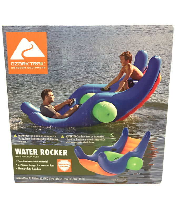Ozark Trail Water-Totter Rocker See-Saw Pool Game Inflatable Swimming Lake Ocean