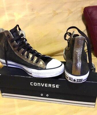 Usado, Zapatillas All Star Converse cuero marrón y doradas. Talla 39 segunda mano  Madrid