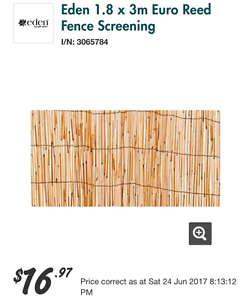 Fence screening - artificial fine bamboo Greenslopes Brisbane South West Preview