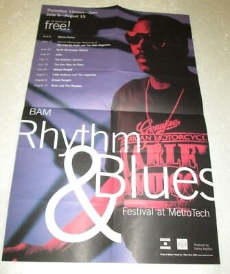"WILSON PICKETT BAM RHYTHM & BLUES FESTIVAL 2002 22"" X 14"" POSTER RARE"