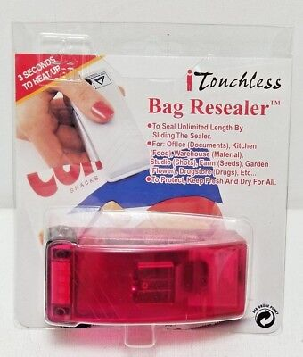 iTouchless Handheld Heat Bag ReSealer for Airtight Food Storage, Reseals Bags