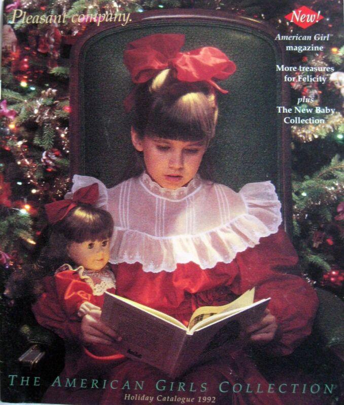 1992 RETIRED PLEASANT COMPANY CATALOG: SAMANTHA CHRISTMAS COVER