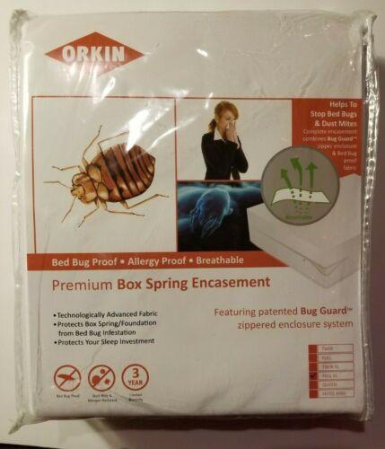 Orkin Brand Premium Box Spring encasement NEW FULL XL Traps Bed Bugs Dust Mites